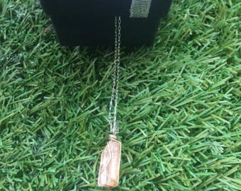 imperialemontee Topaz necklace on a silver chain