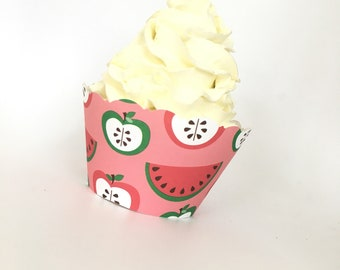 Watermelon Cupcake Wrappers, Summer Cupcake Wrappers, Sale