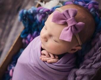 Newborn Baby Bow, Sailor Bow, Baby Headband, Baby Bows, Schoolgirl Bow, Baby Girl Headband, Newborn Headband, Felt Bow, Girls Hair Bow, Baby