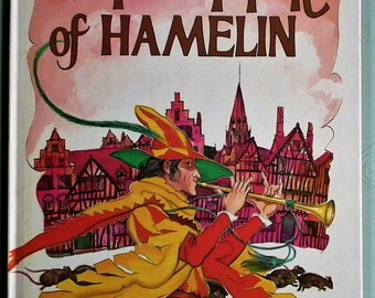 The Pied Piper of Hamelin vintage 1970s children's book by Kay Brown illustrated by Gerry Embleton 1978 hardback award publications limited