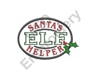 Elf - Machine Embroidery Design, Santa's Helper, Christmas
