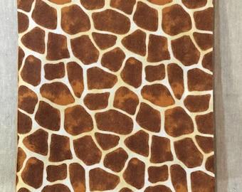 Giraffe Print Fabric Booklet