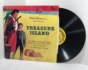 Walt Disney's The Story of Treasure Island vinyl record Dal McKennon 1964 Disneyland Records EX