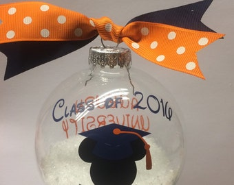 Graduation gift, Disney Mickey ornament, Class of 2016
