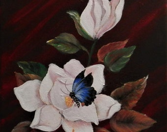 Southern Magnolia with Butterfly.
