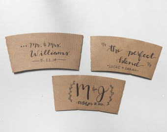 Customized Coffee Sleeves Party Package