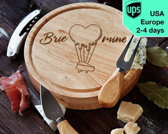 Brie Mine - Cheese board, Laser Engraved custom serving board