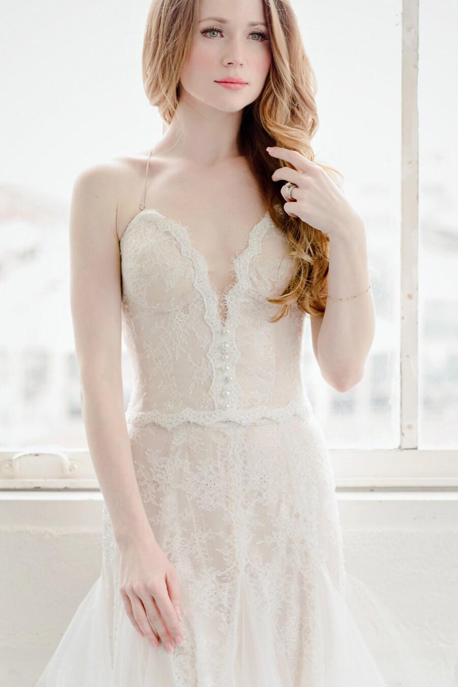 Rückenfreie Hochzeit sexy Korsett Braut Bustier-Top Spitze