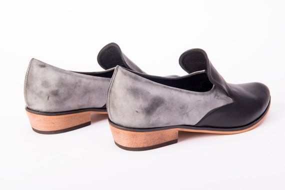 Shoes Black Shoes Comfortable On Women Flat Loafers Leather Shoes Women's Gray Shoes Women's Flats Shoes Shoes Black Shoes Slip for 1pqTwYwC