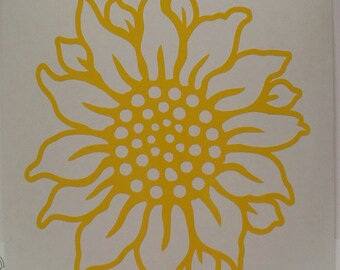 Sunflower Decal/Sunflower Sticker/Car Decal/Flower Decal/Flower Sticker