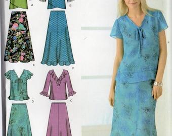 Simplicity Easy To Sew Pattern 4221 SKIRTS & TOPS Women's 20W 22W 24W 26W 28W