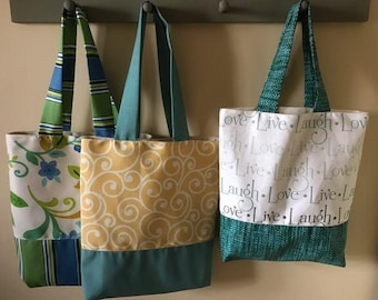 Large Canvas Market Tote Bag