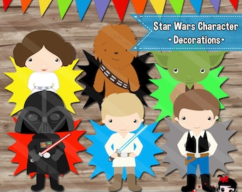 Star Wars Party Decorations, Star Wars Party Supplies, Star Wars Party Printables - Digital PDF & Jpg Files INSTANT DOWNLOAD