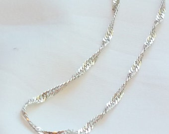 "Beautiful Vintage 24"" Sterling Silver Chain Necklace from Milor, Italy with pendant"