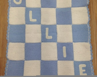 Personalised baby blanket boy