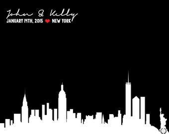 New York Skyline Wedding Gift | NYC Skyline Wedding Gift | New York Skyline | New York | Wedding Gifts > 8X10 - Digital Download