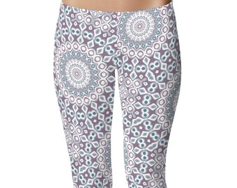 Printed Leggings Yoga Pants, Patterned Yoga Tights, Stretchy Leggings for Women