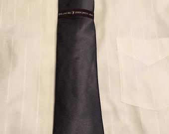 Black Brown Silk Mens Tie