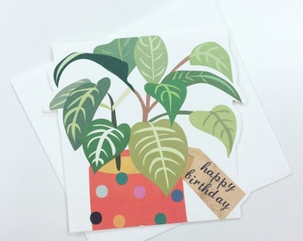 Happy Birthday Potted Plant Card