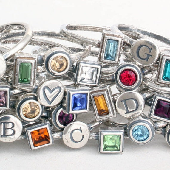 Design Your Own Ring: Design Your Own Ring Set For Mom Or Grandma. Stacking Bands