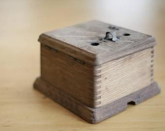 vintage oak ringer box