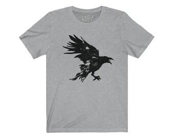 Nevermore Black Raven Unisex Jersey Short Sleeve Artistic Tee Design By Rafi