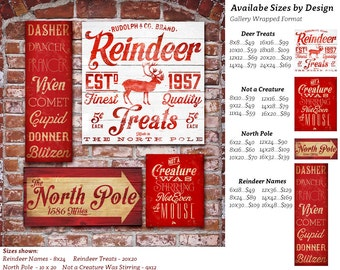 Christmas Holiday typography signage graphic artwork on gallery wrapped canvas by Stephen Fowler