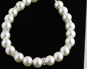 Four Bridal  Glass Pearl Bracelets. Listing  101438738
