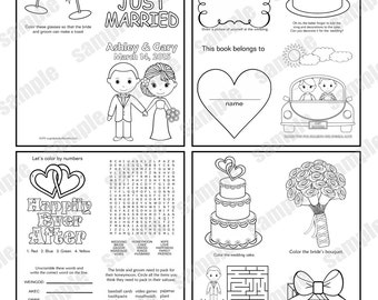 INSTANT DOWNLOAD Mini Printable Wedding coloring activity book
