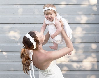 Mom and Baby Matching Flower Crowns, Mother Daughter Floral Crown, Mommy Baby Matching Headbands, Mommy and Me Flower Crown, Boho Wreaths