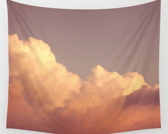 wall tapestry, large size wall art, wall decor, tapestry, modern tapestry, wall hanging, sky clouds tapestry, dreamy wall art
