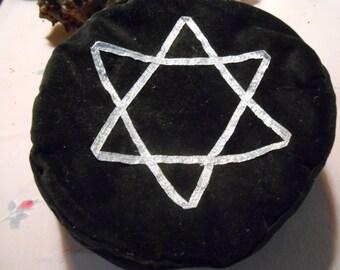 Black Velveteen Star-of-David Hat