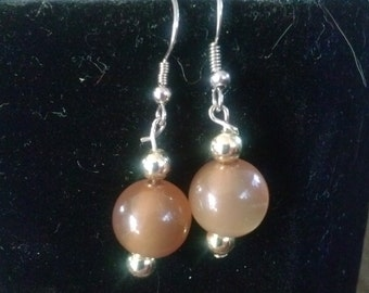 Gold and Peach Dangle