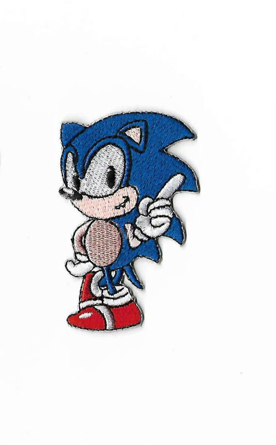 Sonic the Hedgehog Patch 2.5 Inch Embroidered Iron on Badge