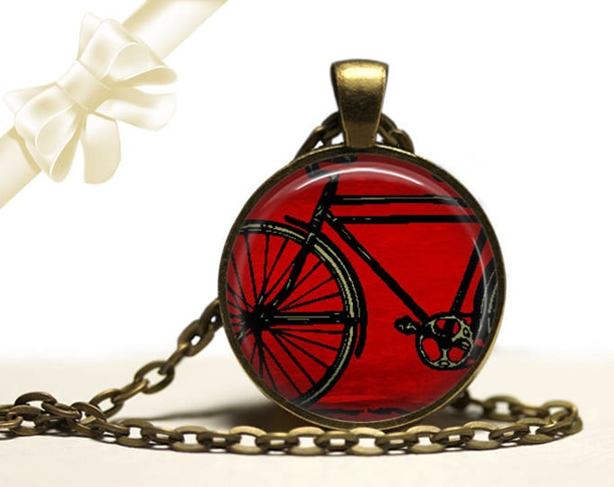 Bike brass Pendant Necklace Free Shipping Gifts for her