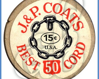 Digital Image of JP Coats Spool of Thread Top