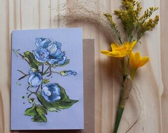flower card - Blank Inside