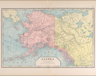 Poster, Many Sizes Available; Map Of Alaska 1901