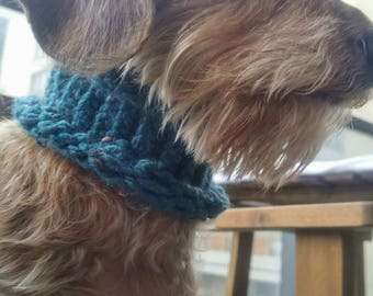 Hand-Knit Cowl Scarves for Dogs and Cats