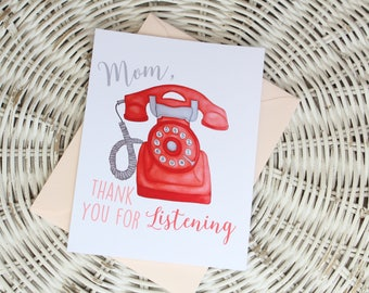 Mother's Day Notecard - Telephone
