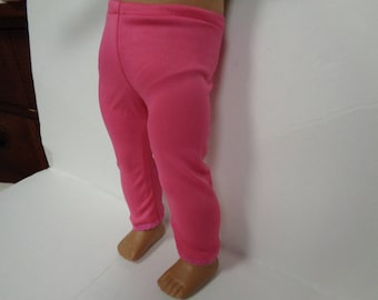 Pink Knit Leggings for 18 Inch Dolls--Shown on my American Girl Doll