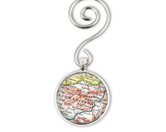Military Christmas Ornament, Afghanistan Ornament, Husband Gift Idea, Military Gifts, Custom Holiday Ornament, Map Ornament Charms