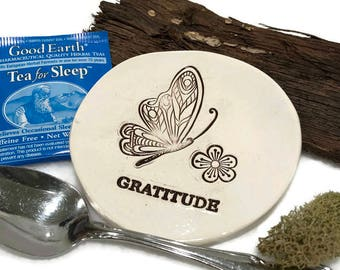 Butterfly Spoon Rest - Gratitude - Ready to Ship