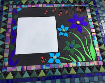 mozaiek spiegel, mozaieke spiegel, decoratieve spiegel, kunstobject, wandspiegel, Mozaïk Mosaics mosaic mirror