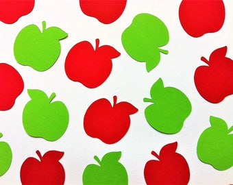 Apple Party Confetti - Apple Of My Eye Party - Fall Baby Shower - Red and Green Apples - Fall Party - Autumn Party - Thanksgiving Decoration