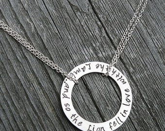 LIMITED TIME SALE And So the Lion Fell in Love with the Lamb (Twilight) - Solid Sterling, 4 font choices