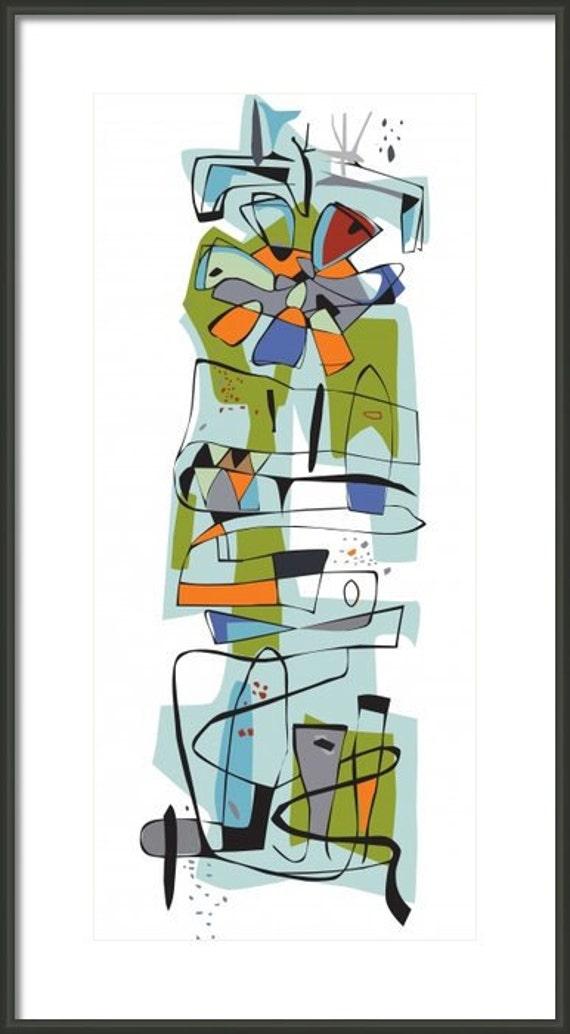 Mid Century Modern Googie Print Fairview 1950