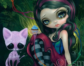 Sweet Dreamers art print by Jasmine Becket-Griffith and Michael Banks Sugar Fueled 12x16 BIG cat cupcake surreal kitty big eye