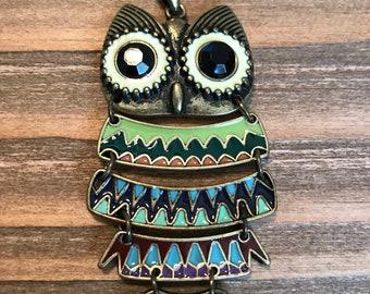 Owl Focal Pendant/Owl Necklace Pendant/Jewelry Supply Sale