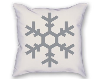 Snowflake Pillow – Christmas Pillow, Holiday Pillow